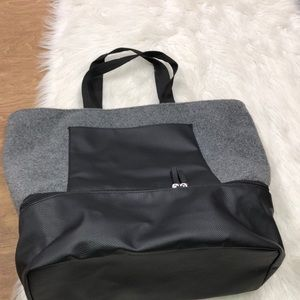 DSW new grey travel weekender bag w/shoe section
